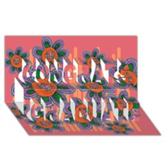 Colorful Floral Dream Congrats Graduate 3d Greeting Card (8x4) by DanaeStudio