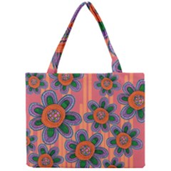 Colorful Floral Dream Mini Tote Bag by DanaeStudio