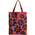 Colorful Floral Dream Zipper Classic Tote Bag