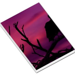 Vultures At Top Of Tree Silhouette Illustration Large Memo Pads by dflcprints