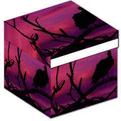 Vultures At Top Of Tree Silhouette Illustration Storage Stool 12   by dflcprints