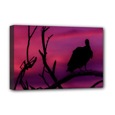 Vultures At Top Of Tree Silhouette Illustration Deluxe Canvas 18  X 12   by dflcprints