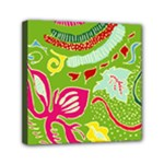 Green Organic Abstract Mini Canvas 6  x 6
