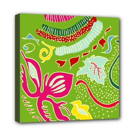 Green Organic Abstract Mini Canvas 8  X 8  by DanaeStudio