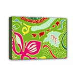 Green Organic Abstract Mini Canvas 7  x 5