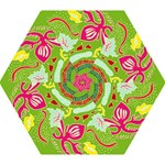 Green Organic Abstract Mini Folding Umbrellas