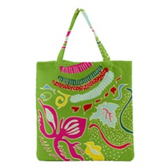 Green Organic Abstract Grocery Tote Bag by DanaeStudio