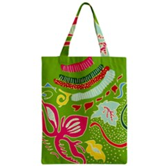 Green Organic Abstract Zipper Classic Tote Bag by DanaeStudio
