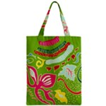 Green Organic Abstract Zipper Classic Tote Bag