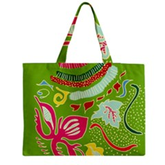 Green Organic Abstract Medium Tote Bag by DanaeStudio