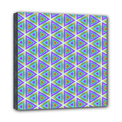 Colorful Retro Geometric Pattern Mini Canvas 8  X 8  by DanaeStudio