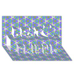 Colorful Retro Geometric Pattern Best Friends 3d Greeting Card (8x4) by DanaeStudio