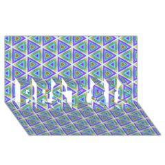 Colorful Retro Geometric Pattern Best Sis 3d Greeting Card (8x4) by DanaeStudio