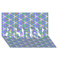 Colorful Retro Geometric Pattern Sorry 3d Greeting Card (8x4) by DanaeStudio