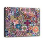 Ornamental Mosaic Background Canvas 10  x 8