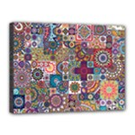 Ornamental Mosaic Background Canvas 16  x 12