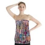 Ornamental Mosaic Background Strapless Top