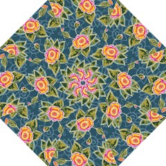 Floral Fantsy Pattern Straight Umbrellas by DanaeStudio