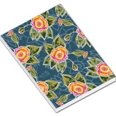 Floral Fantsy Pattern Large Memo Pads by DanaeStudio
