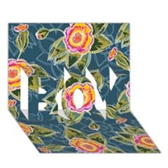 Floral Fantsy Pattern Boy 3d Greeting Card (7x5) by DanaeStudio