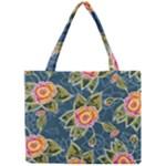 Floral Fantsy Pattern Mini Tote Bag