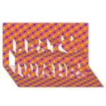 Vibrant Retro Diamond Pattern Best Wish 3D Greeting Card (8x4)