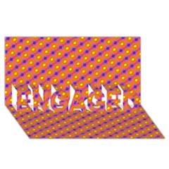 Vibrant Retro Diamond Pattern Engaged 3d Greeting Card (8x4) by DanaeStudio