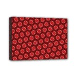 Red Passion Floral Pattern Mini Canvas 7  x 5