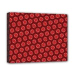 Red Passion Floral Pattern Canvas 10  x 8
