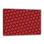 Red Passion Floral Pattern Canvas 18  x 12