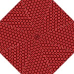 Red Passion Floral Pattern Straight Umbrellas