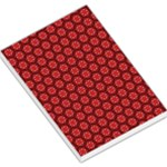 Red Passion Floral Pattern Large Memo Pads