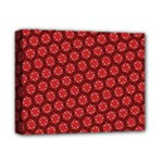 Red Passion Floral Pattern Deluxe Canvas 14  x 11