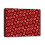Red Passion Floral Pattern Deluxe Canvas 16  x 12