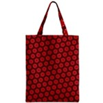 Red Passion Floral Pattern Zipper Classic Tote Bag