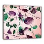 Spiral Eucalyptus Leaves Canvas 24  x 20