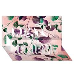 Spiral Eucalyptus Leaves Best Friends 3d Greeting Card (8x4) by DanaeStudio