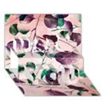 Spiral Eucalyptus Leaves Miss You 3D Greeting Card (7x5)