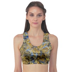 Antique Anciently Gold Blue Vintage Design Sports Bra by designworld65