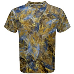 Antique Anciently Gold Blue Vintage Design Men s Cotton Tee by designworld65