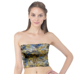 Antique Anciently Gold Blue Vintage Design Tube Top by designworld65