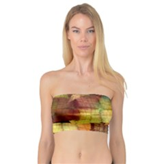 Indian Summer Funny Check Bandeau Top by designworld65