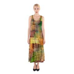 Indian Summer Funny Check Sleeveless Maxi Dress by designworld65