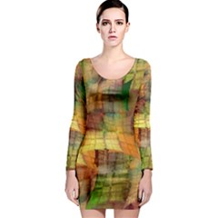 Indian Summer Funny Check Long Sleeve Bodycon Dress by designworld65