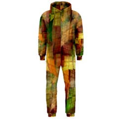 Indian Summer Funny Check Hooded Jumpsuit (men)  by designworld65
