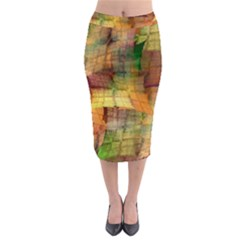 Indian Summer Funny Check Midi Pencil Skirt by designworld65