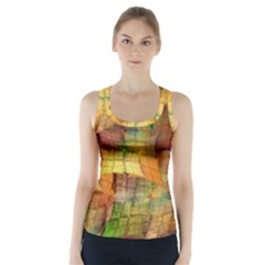 Indian Summer Funny Check Racer Back Sports Top by designworld65