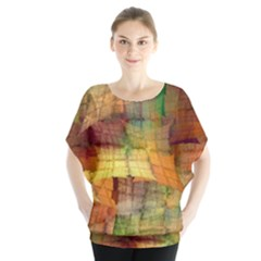 Indian Summer Funny Check Blouse by designworld65