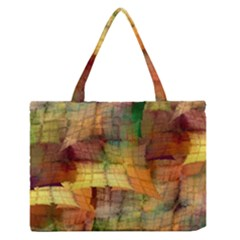 Indian Summer Funny Check Medium Zipper Tote Bag by designworld65