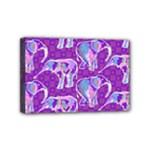 Cute Violet Elephants Pattern Mini Canvas 6  x 4